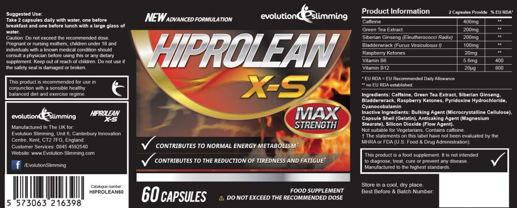 hiprolean-weight-loss-pills-product-label